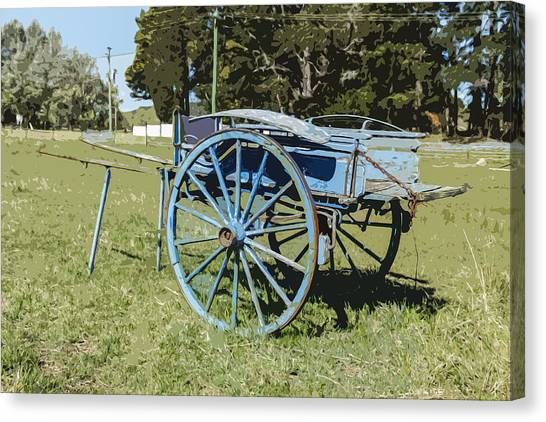 A Farm Relic From The Past Canvas Print by Gary Cowling