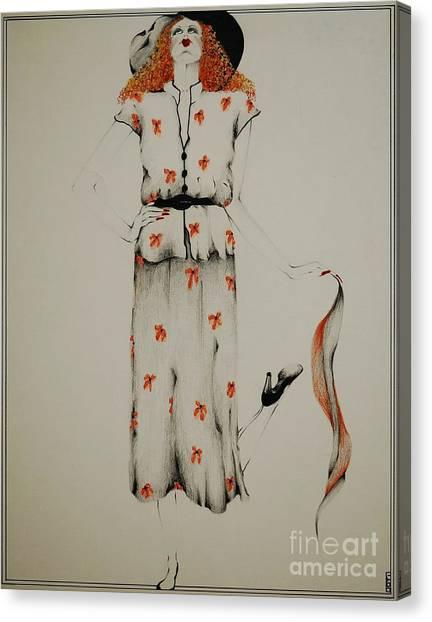 Prisma Colored Pencil Canvas Print - A Fashion Statement by Joy Bradley