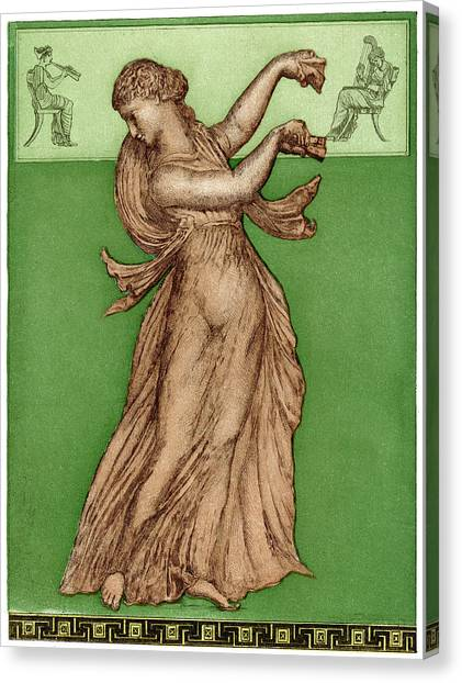 A Female Dancer Performs  Alone Canvas Print by Mary Evans Picture Library