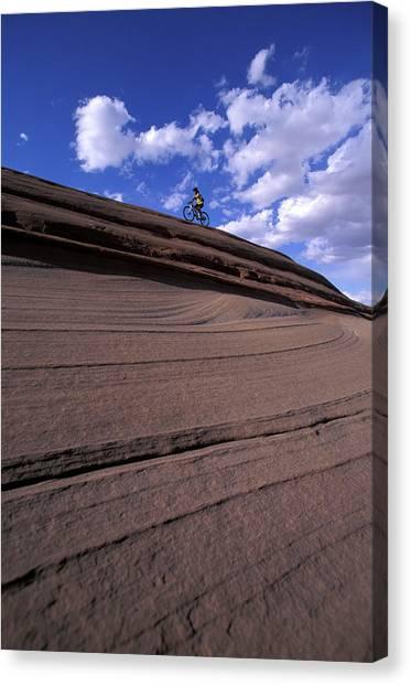 It Professional Canvas Print - A Female Mountain Biker Mountain Biking by Corey Rich
