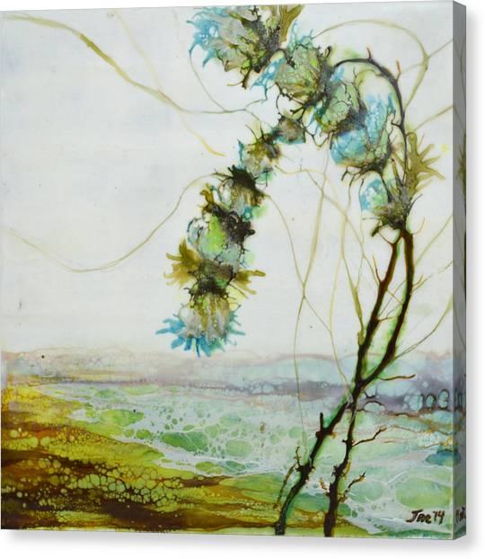 A Flower Dance Canvas Print