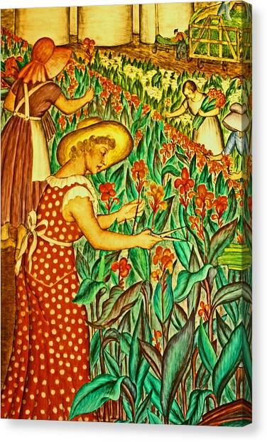 A Flower Harvest Canvas Print