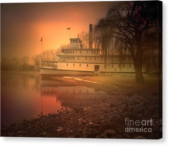 Penticton Canvas Print - A Foggy Sunrise by Tara Turner