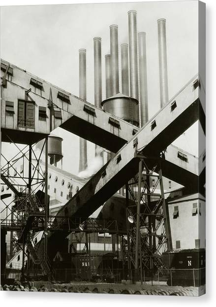 A Ford Automobile Factory Canvas Print by Charles Sheeler