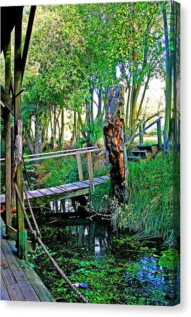 A Forgotten Delta Dock Canvas Print