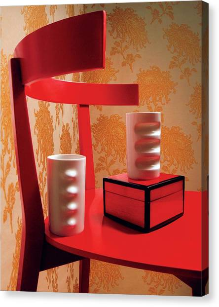 Lacquer Canvas Print - A Fratelli Tominaga Chair And Hakusan Fancy Cups by Danny Evans