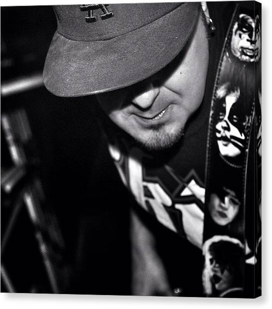 Bass Guitars Canvas Print - A Friend Of Mine, Mario Guzman, Lead by James Crawshaw
