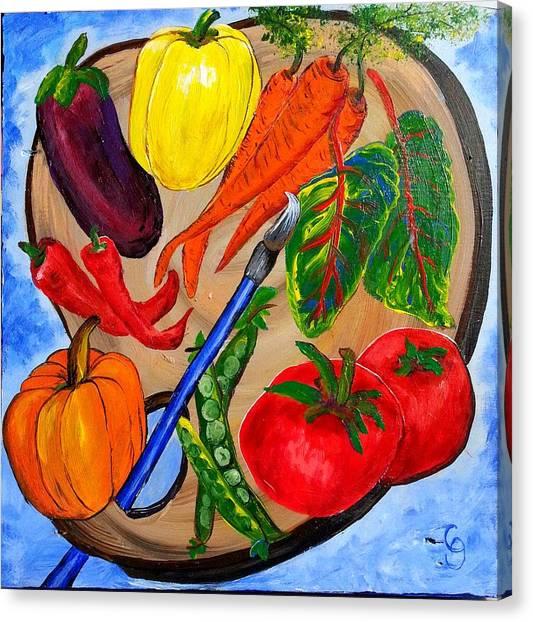 A Gardeners Palette Canvas Print