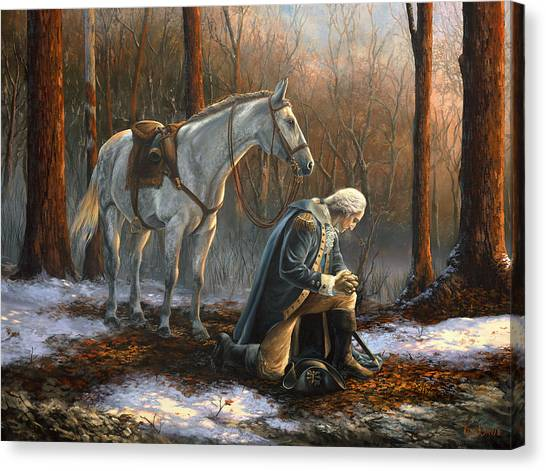President Canvas Print - A General Before His King by Tim Davis