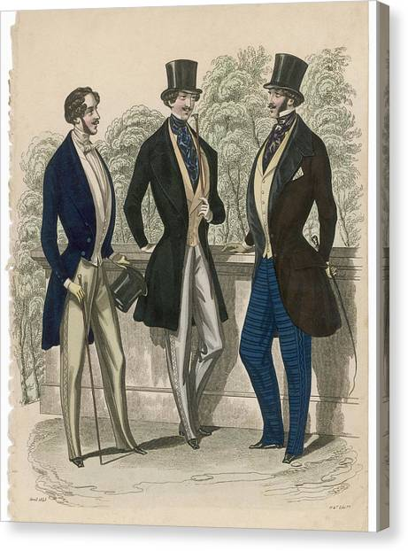 Fashion Plate Canvas Print - A Gent In Day Dress Clothes by Mary Evans Picture Library