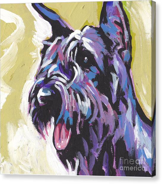 Schnauzers Canvas Print - A Giant by Lea S