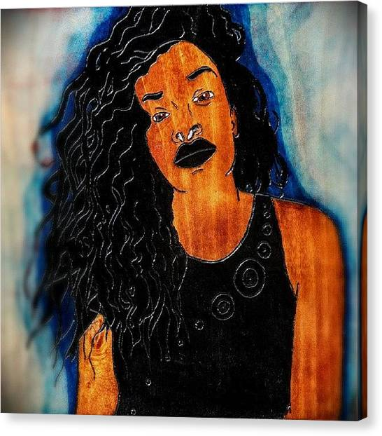 Submission Canvas Print - A Girl Named Nikki... by Errick Freeman