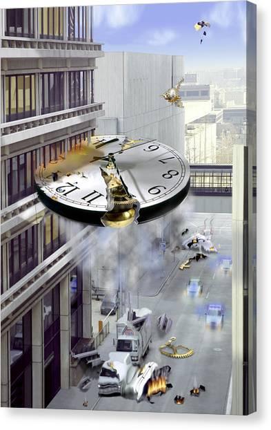 Dali Canvas Print - A Glitch In Time by Mike McGlothlen