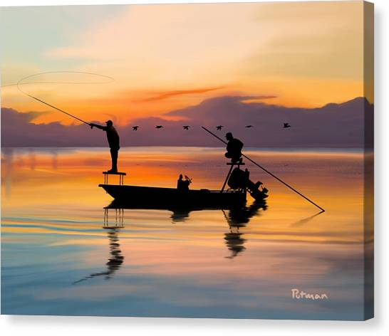 Fly Fishing Canvas Print - A Glorious Day by Kevin Putman