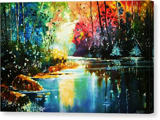 A Glow In The Forest Canvas Print