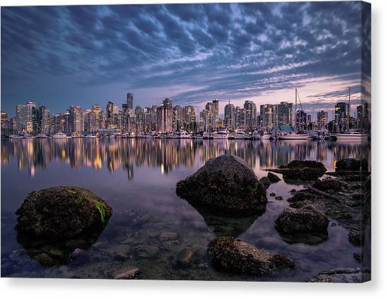 Vancouver Skyline Canvas Print - A Glowing Pearl by Andreas Agazzi