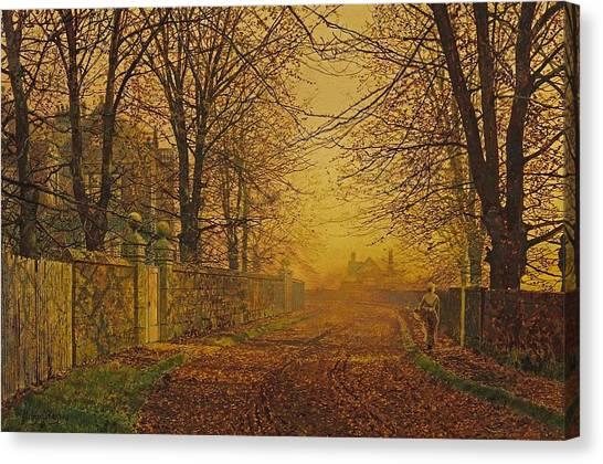 A Golden Shower Canvas Print