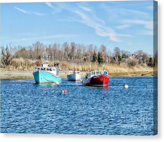 A Good Day To Fish Canvas Print by Roxanne Marshal