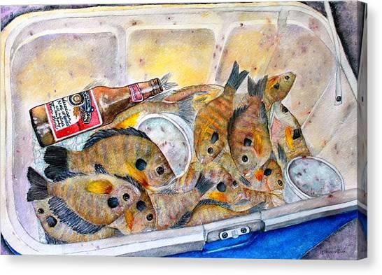 A Good Fish'n Day Canvas Print