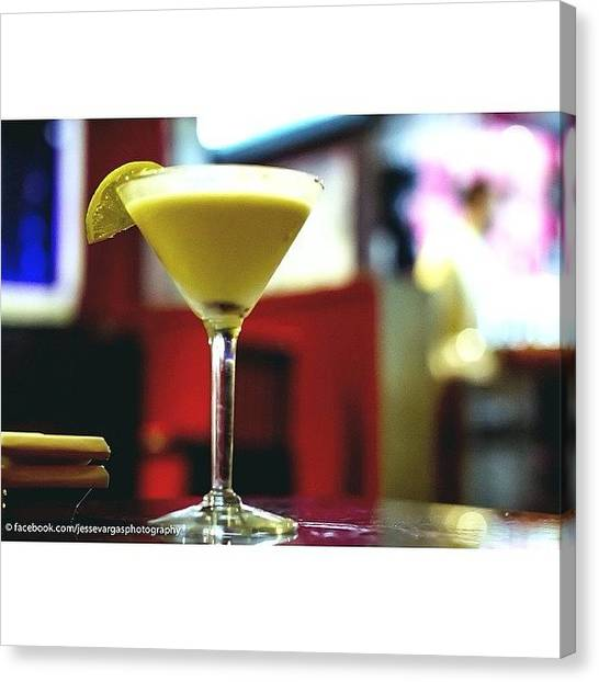 Martini Canvas Print - A Good Way To End A Long Day Of Walking by Jesse Vargas