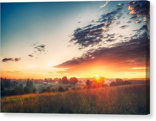 A Goode Sunrise Canvas Print