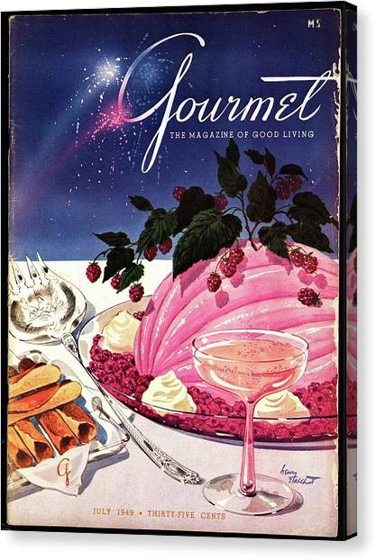 A Gourmet Cover Of Mousse Canvas Print