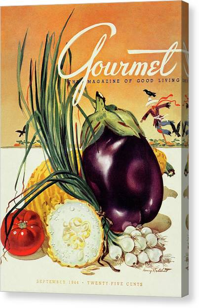 A Gourmet Cover Of Vegetables Canvas Print