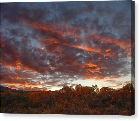 A Grand Sunset 2 Canvas Print