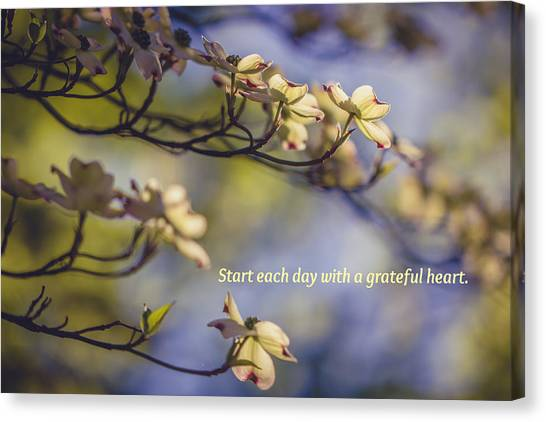 A Grateful Heart Canvas Print
