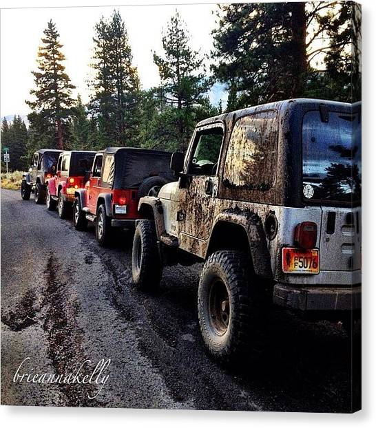 Offroading Canvas Print - A Great Day Last Year Out Wheelin With by James Crawshaw