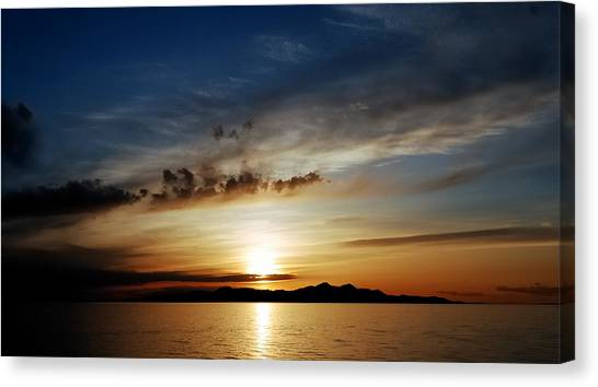 A Great Salt Lake Sunset Canvas Print