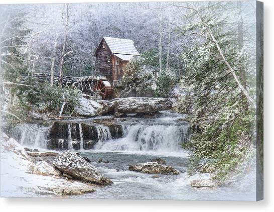 A Gristmill Christmas Canvas Print