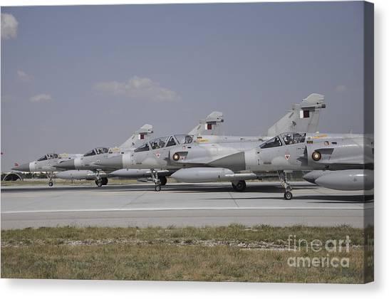 Emir Canvas Print - A Group Of Dassault Mirage 2000-5edadda by Giorgio Ciarini