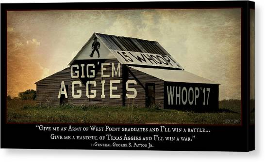 Texas A Canvas Print - A Handful Of Aggies by Stephen Stookey