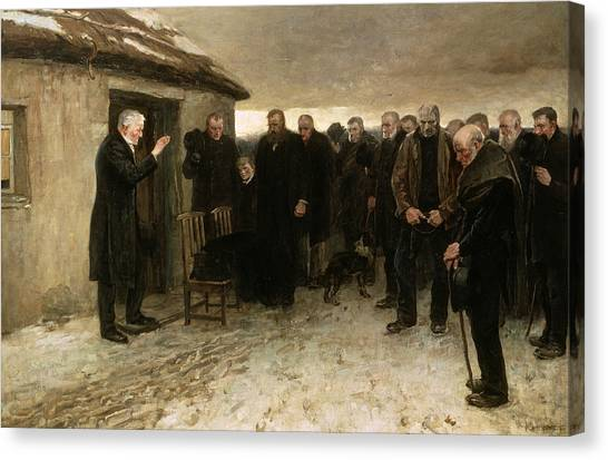 Pastor Canvas Print - A Highland Funeral by Sir James Guthrie