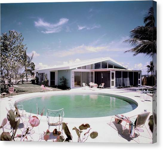 A House In Miami Canvas Print