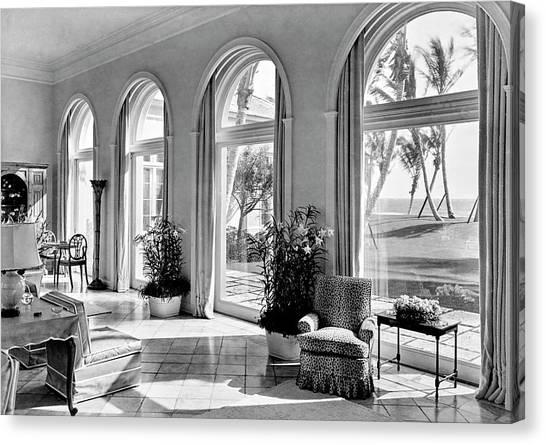 A House In Palm Beach Canvas Print by Samuel H. Gottscho