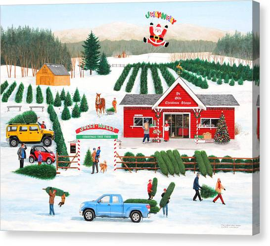 A Jolly Holly Holiday Canvas Print