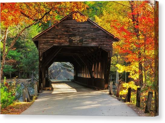 A Kancamagus Gem - Albany Covered Bridge Nh Canvas Print