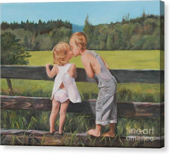 A Kiss For Little Sister Canvas Print