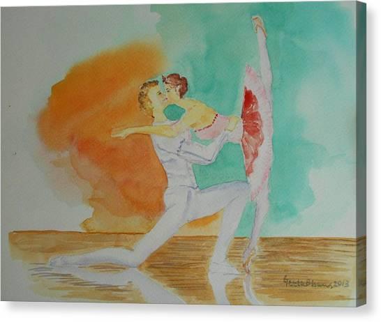 A Kiss In Ballet  Canvas Print
