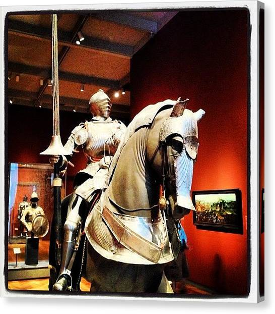 Knights Canvas Print - A Knight & His Horse #artinstitute by Gilberto Bernal