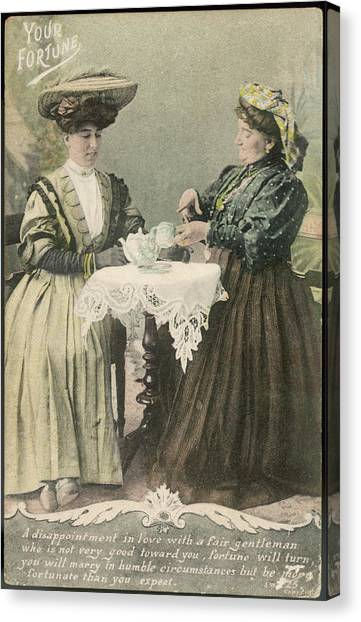 Tea Leaves Canvas Print - A Lady Consults A Tea-leaf by Mary Evans Picture Library