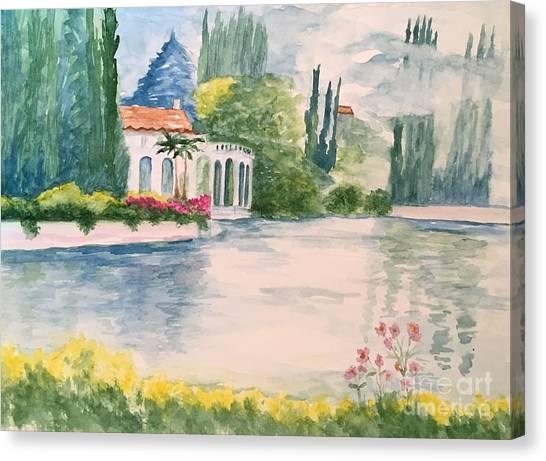 A Lake In Tuscany Canvas Print