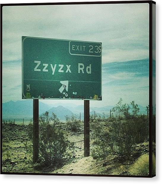 Bachelorette Canvas Print - A Landmark! On Our Way To #vegas by Sydney Grossman