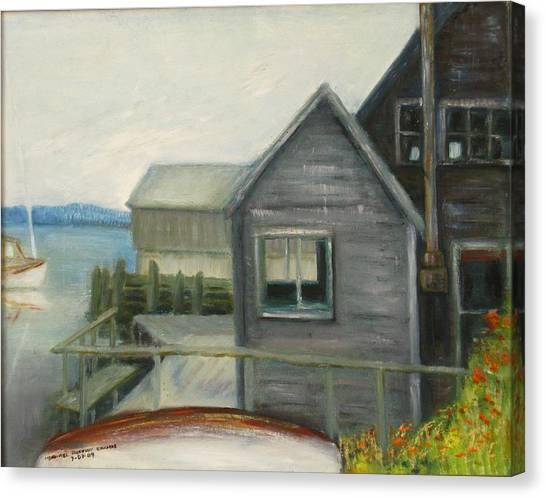 A Last Look At Port Clyde Canvas Print