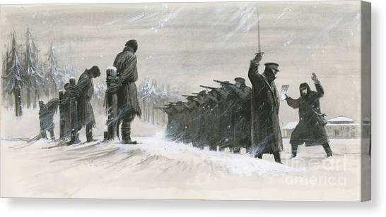 Novelist Canvas Print - A Last Minute Reprieve Saved Fyodor Dostoievski From The Firing Squad by  Ralph Bruce