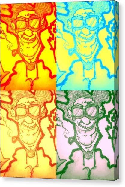 Hip Hop Canvas Print - A Leroy Warhol by AMGizzle