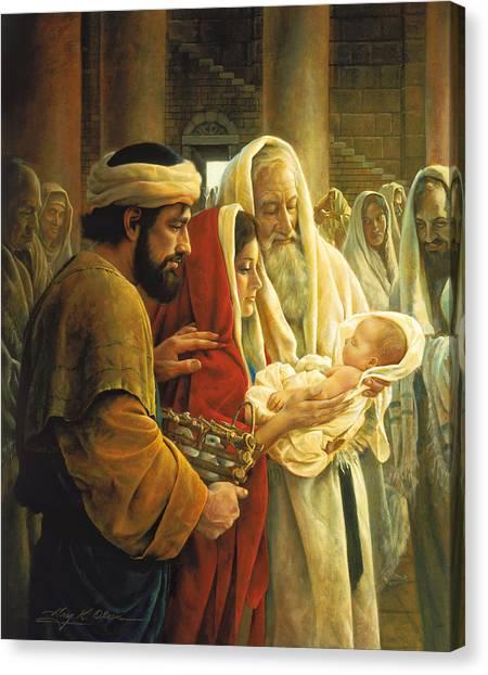 Presentations Canvas Print - A Light To The Gentiles by Greg Olsen