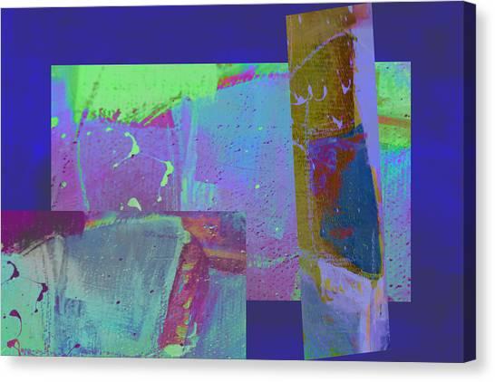 Frank Stella Canvas Print - A Little Off by Linda Dunn